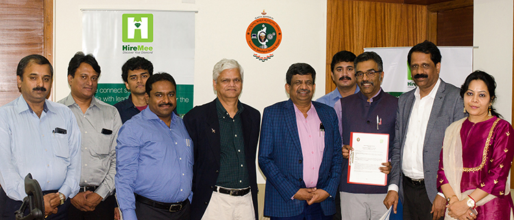 HireMee Signs MOU With Visvesvaraya Technological University