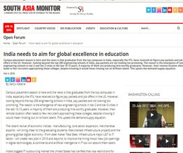 India needs to aim for global excellence in education